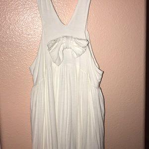 Cream Dress with Bow